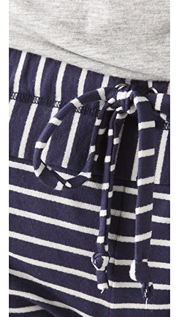 Splendid Mini Breton Stripe Shorts