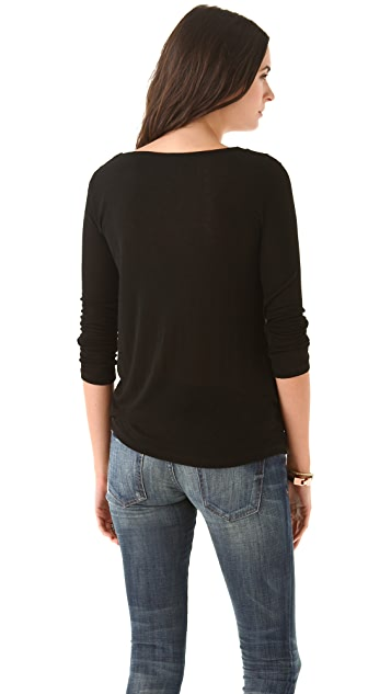 Splendid Drapey Lux Long Sleeve Tee