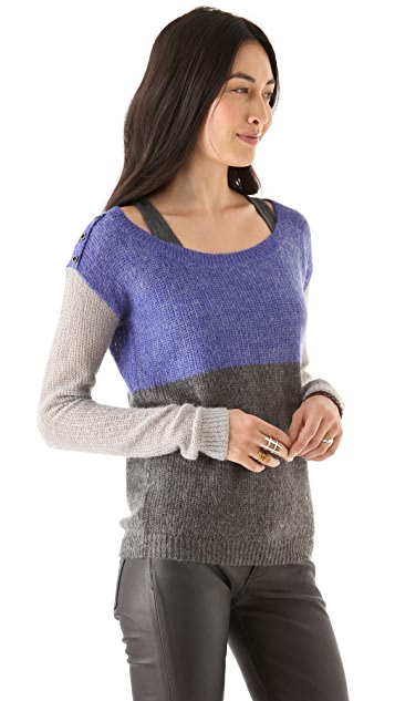 Splendid Colorblock Sweater