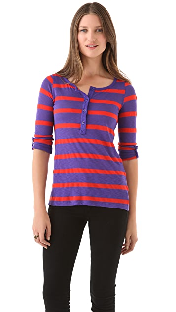 Splendid Seville Striped Henley Tee