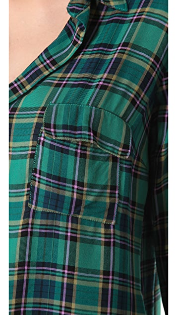 Splendid Charlee Plaid Henley