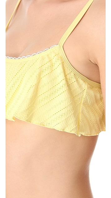 Splendid Ginger Eyelet Bikini Top