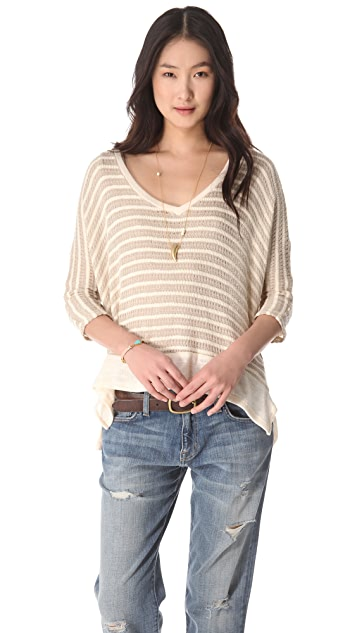 Splendid Panama Stripe Dolman Sweater