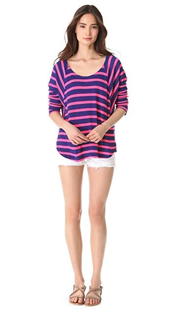 Splendid Neon Pop Thermal Pullover