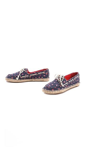 Splendid Ranger Floral Espadrille Boat Shoes
