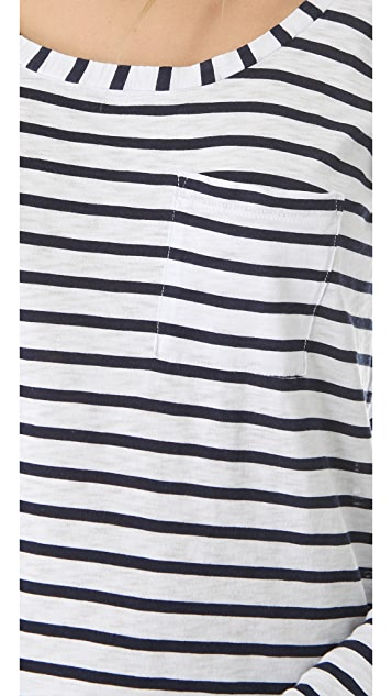 Splendid Miami Stripe Long Sleeve Tee
