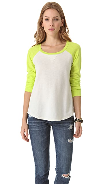 Splendid French Terry Baseball Tee