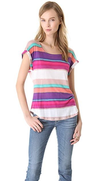 Splendid Watercolor Stripe Tee
