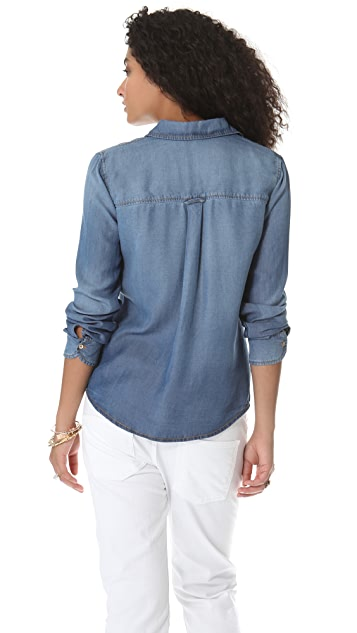 Splendid Indigo Chambray Shirt