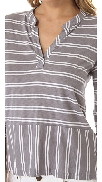 Splendid Double French Stripe Henley