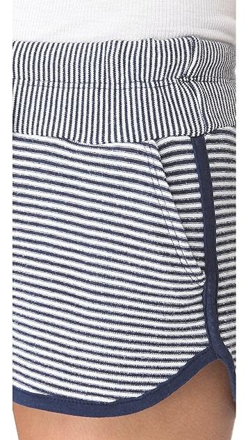 Splendid Madeleine Reverse Stripe Shorts