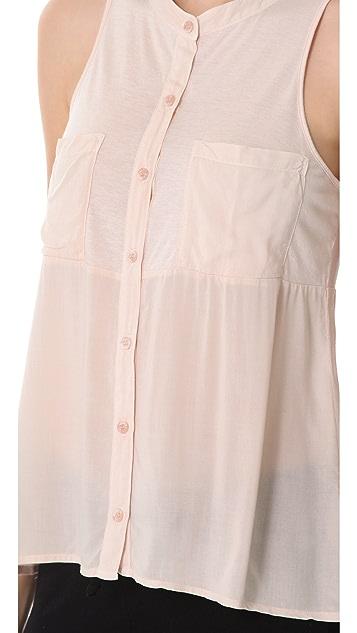 Splendid Shirting Sleeveless Top