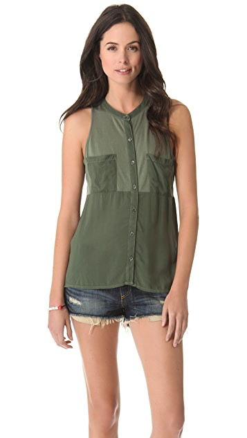Splendid Shirting Sleeveless Top