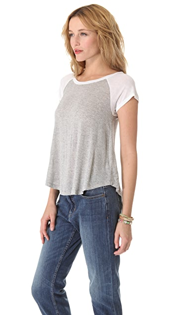 Splendid Draped Lux Tee