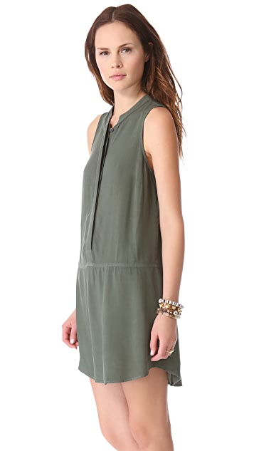 Splendid Curved Hem Henley Dress