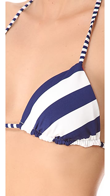 Splendid Monroe Reversible Triangle Bikini Top