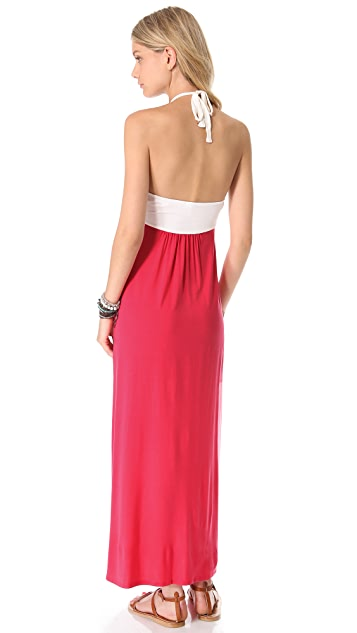 Splendid Halter Maxi Dress