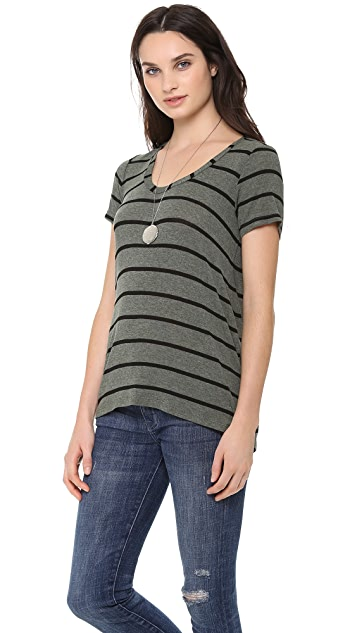 Splendid Brooklyn Striped Drapey Luxe Tee