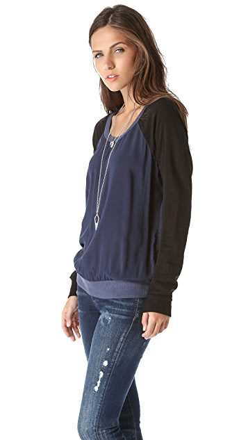 Splendid Sporty Blocked Sweatshirt