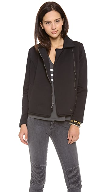 Splendid Solid Fleece Moto Jacket