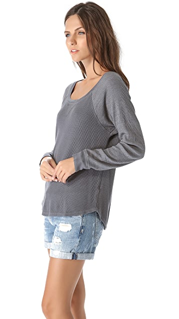 Splendid Thermal Crew Neck Top