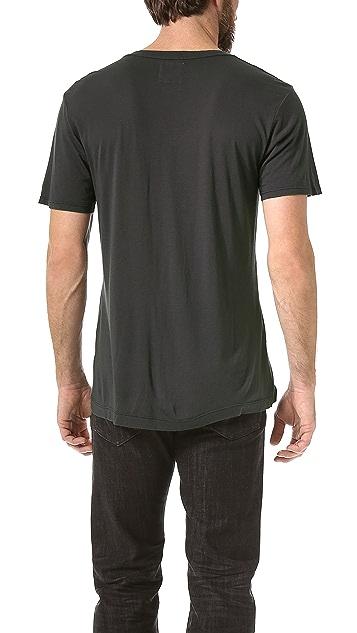 Splendid Core Jersey Deep V T-Shirt