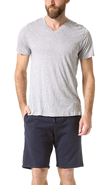 Splendid Core Jersey Deep V T-Shirt