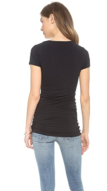 Splendid Layers Scoop Neck Tee