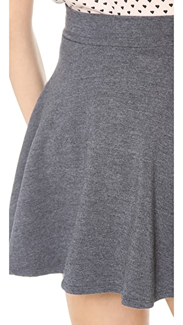 Splendid Layers Flare Mini Skirt