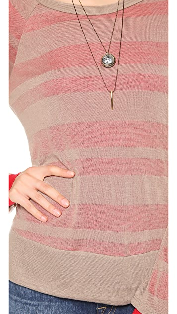 Splendid Quebec Shadow Stripe Long Sleeve Tee