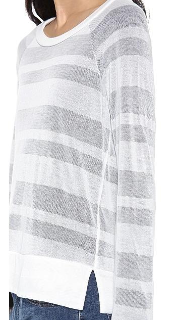Splendid Quebec Shadow Stripe Long Sleeve Tee