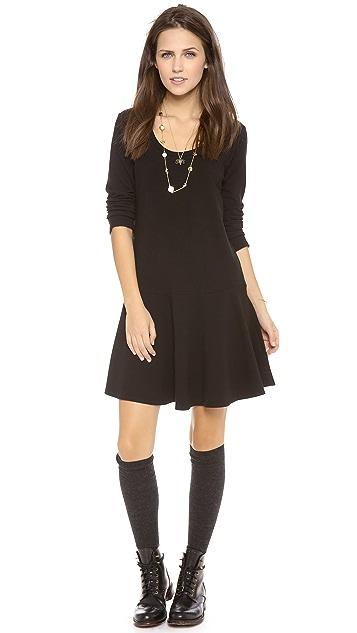 Splendid Long Sleeve U-Neck Flare Dress