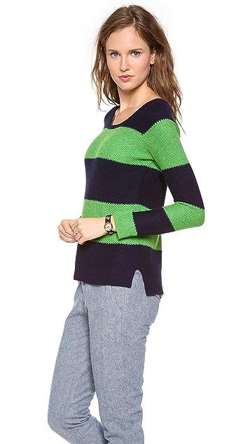 Splendid Honeycomb Rugby Sweater