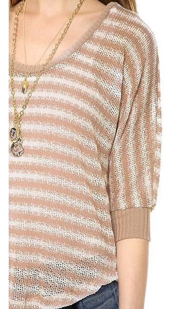 Splendid Antwerp Stripe Loose Knit Pullover