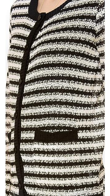 Splendid Antwerp Stripe Loose Knit Cardigan