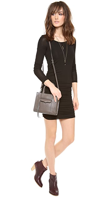 Splendid Long Sleeve Ruched Dress