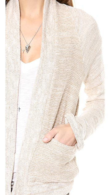 Splendid Metallic City Cardigan