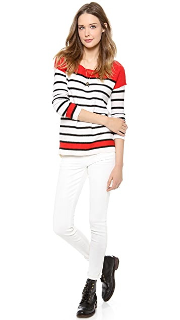 Splendid Pop Stripe Colorblock Pullover