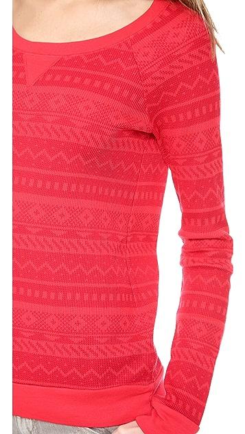 Splendid Printed Thermal Pullover