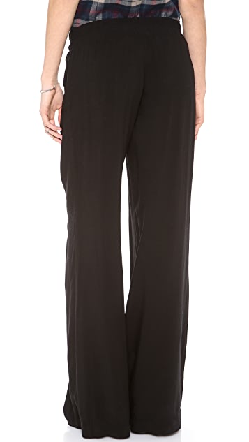 Splendid Pull On Woven Wide Leg Pants