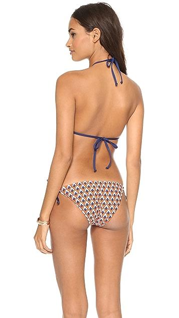 Splendid Pop Geo Reversible Triangle Bikini Top