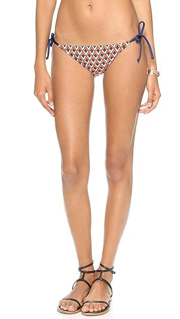 Splendid Pop Geo Tie Side Bikini Bottoms