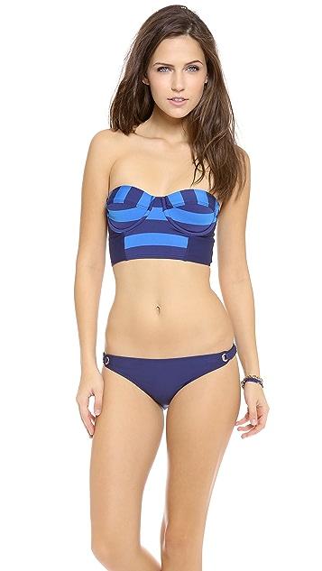 Splendid Marcel Stripe Bustier Bikini Top