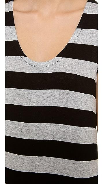 Splendid Striped Drapey Lux Tee