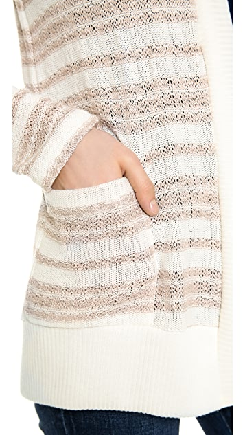Splendid Palisades Stripe Loose Knit Cardigan