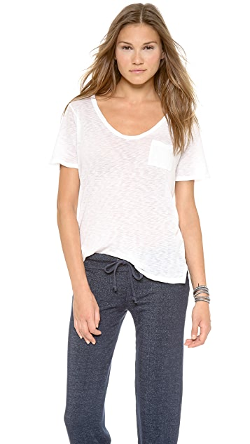 Splendid Slub Pocket Tee