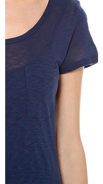 Splendid T-Shirt Maxi Dress with Slit