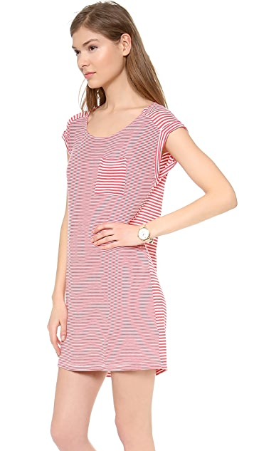Splendid Striped Tee Shirt Dress