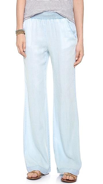 Splendid Chambray Wide Leg Pants