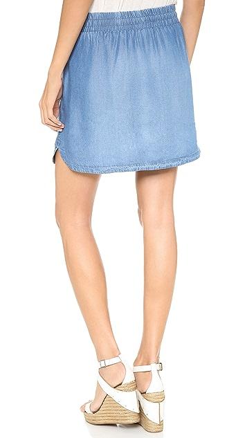 Splendid Chambray Miniskirt